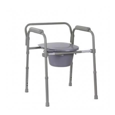 складной туалетный стул с подлокотниками