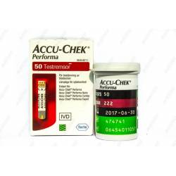 Тест-полоски для глюкометра Accu-chek Performa №50