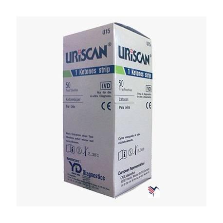 Тест полоски URISCAN для исследования мочи U24 GluKeto 2 (глюкоза, кетоны), 100 шт.