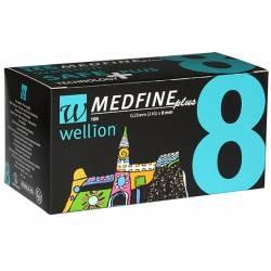 Голки для інсулінових шприц - ручок Wellion MEDFINE plus 0,25 мм (31 G) x 8мм, 100 шт.
