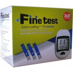 Тест полоски для глюкометра Fine testPremium№50