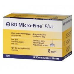 Голки BD Micro-Fine Plus 30G (0,3 х 8 мм)