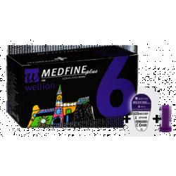 Иглы для инсулиновых шприц - ручек Wellion MEDFINE plus 0.25 мм (31 G) x 6мм, 100 шт.