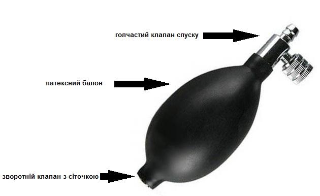 груша для тонометра з металевим краником